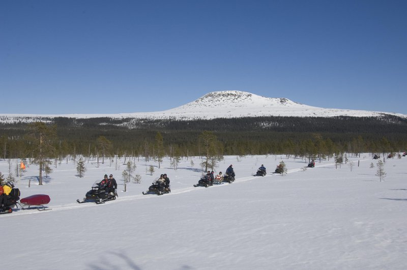 Snowmobile ride in Dalarna