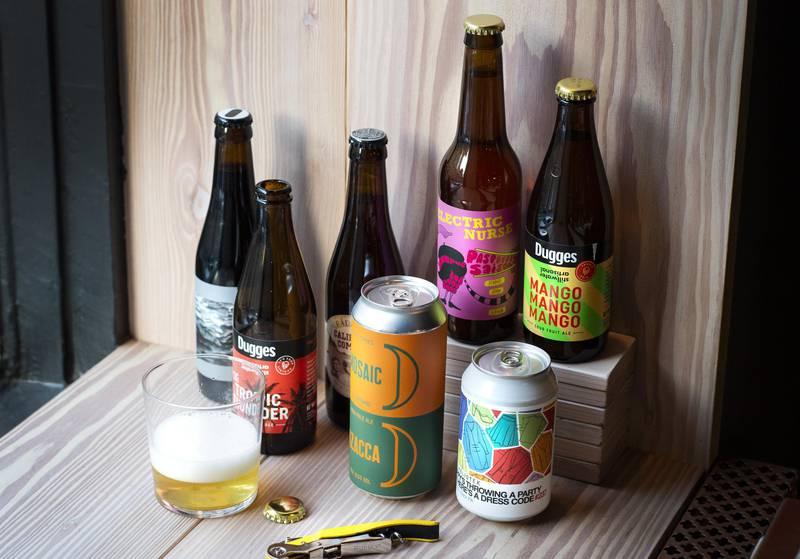 Bières provenant de brasseries locales de l'Ouest de la Suède.