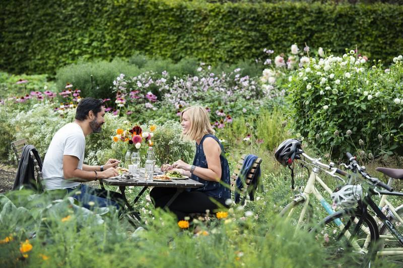 Mittagessen im Schloss Gunnebo mit seinen Gärten, Göteborg