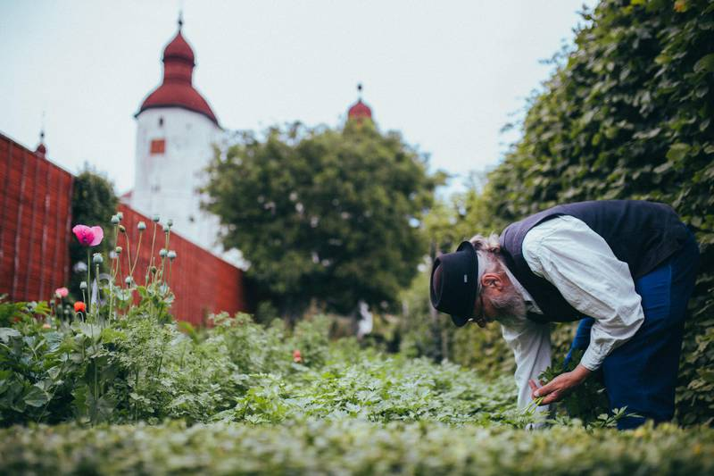 Schlossgarten von Schloss Läckö, Westschweden