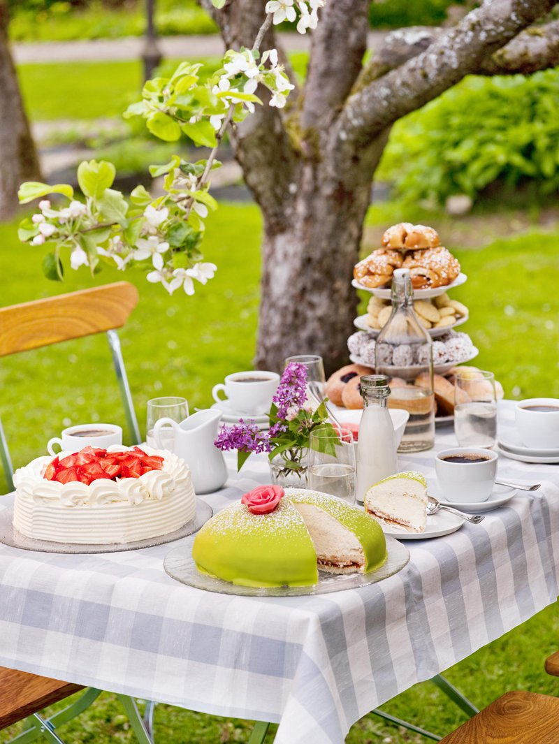 Swedish fika table at Grythyttan Inn
