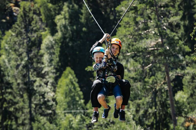 Zipline with kids, Småland