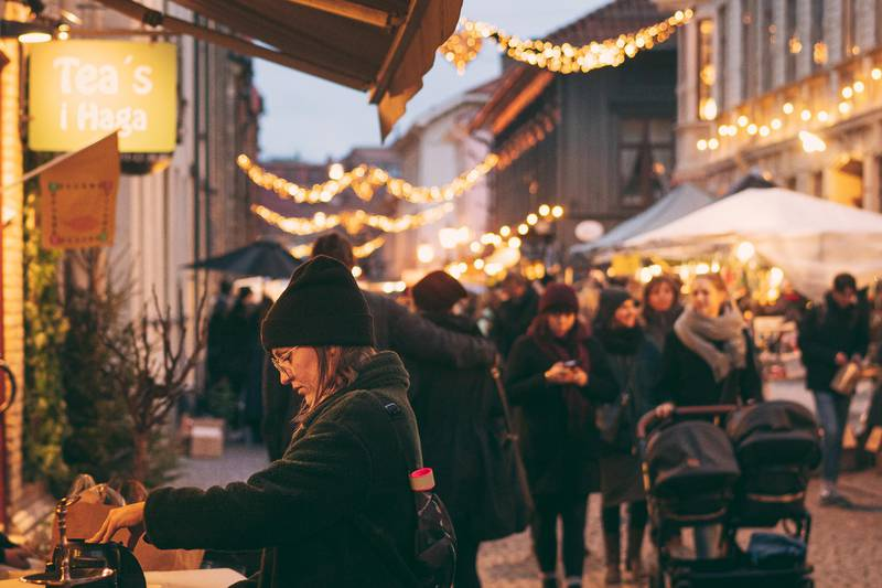 Christmas market in Haga, Gothenburg