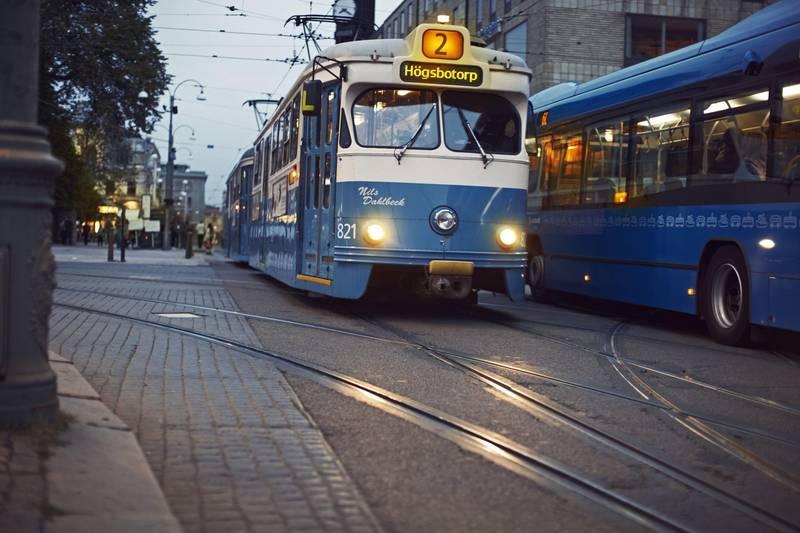 Klassische Straßenbahn in Göteborg