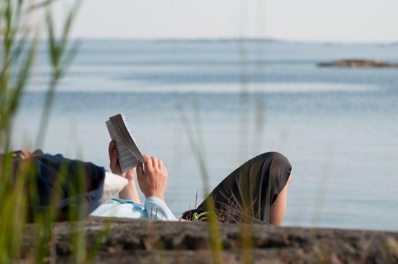 Romans policiers en bord de mer, côte ouest de la Suède
