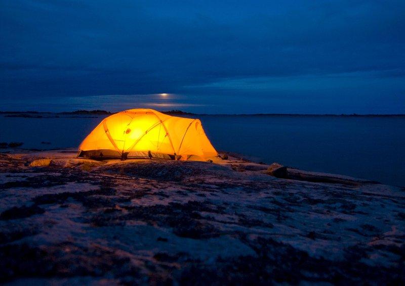 Midnight camping