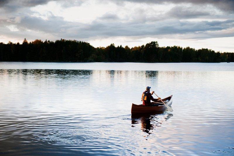 Småland eignet sich perfekt zum Kanu fahren