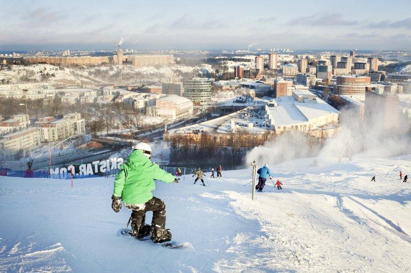 Piste de ski à Stockholm