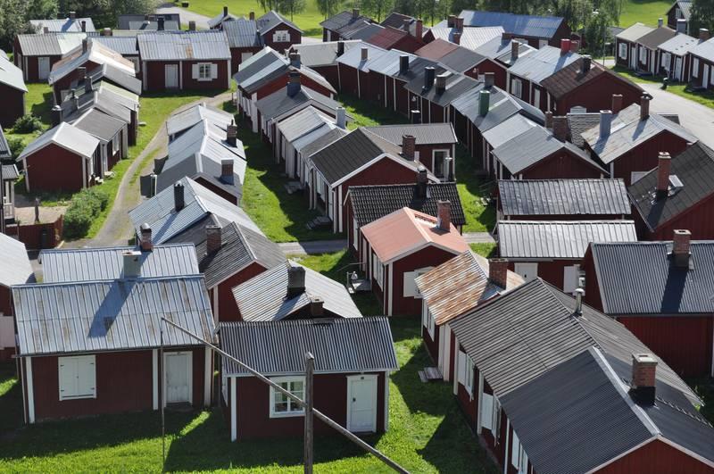 Kirchenstadt Gammelstad in in Nordschweden