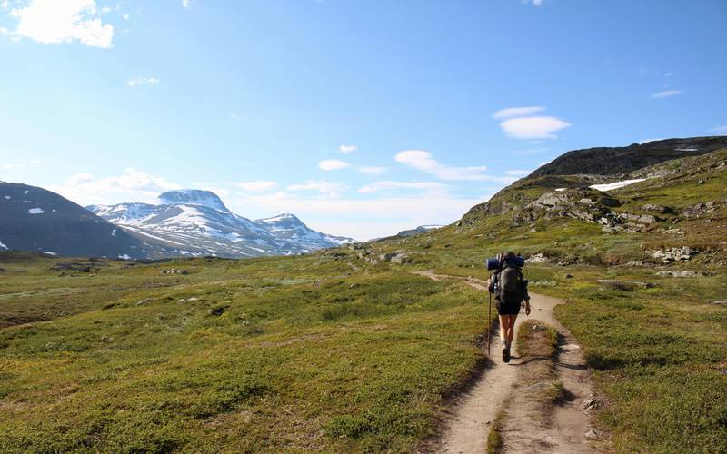 Hiking in Kebnekaise, Swedish Lapland