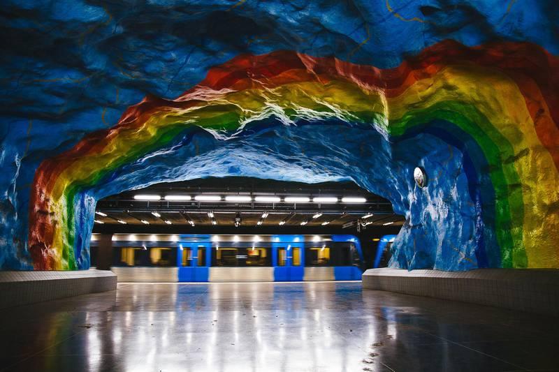 Subway art, Stockholm